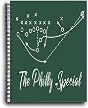 Cussing Cups Philadelphia Eagles Themed Spiral Notebook Philly Special Play Design for Super Bowl Champs