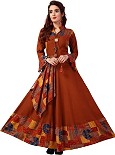 any kids Women Anarkali Rayon Kurta
