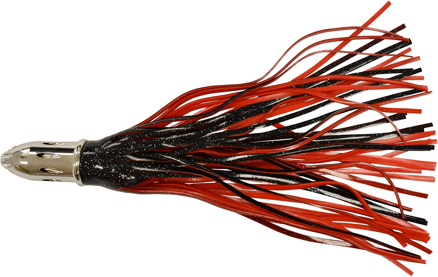 Offshore Fishing Lure 14 red and Black high Speed Slotted Jet Head Killer