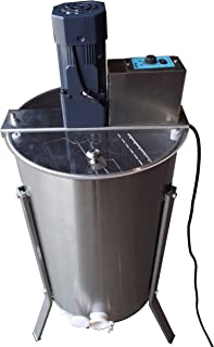 GoodLand Bee Supply HE2MOT 2 Frame Beekeeping 304 Stainless Steel Drum Honey Motorized Extractor With Stand - Electric 110V