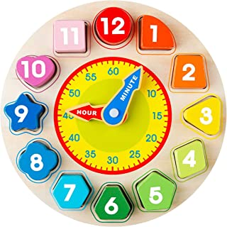 Avenor Clock Learning for Kids - Teaching Time Montessori Toys for Toddlers Learning Clock Early Learning Educational Toy ...