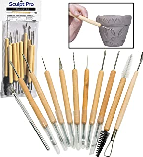 Sculpt Pro Pottery Tool Kit – 11-Piece 21-Tool Beginner's Clay Sculpting Set..