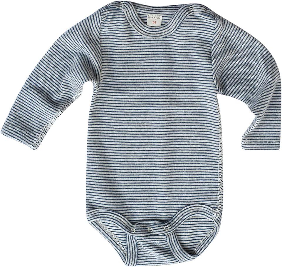 Warmer Baby Body Ringel, 70% Wolle (kbT), 30% Seide, 210 gr./m²