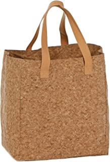 Genuine Cork Tote & Bottle Bag, Wine Bottles, Liquor or Shopping Tote by Picnic Plus