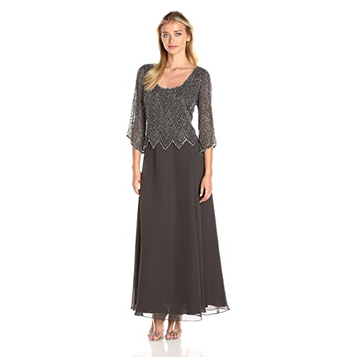 19f90ccb01b J Kara Women s Scoop Neck 3 4 Sleeves Long Dress