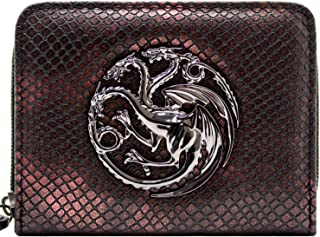 House Targaryen Game of Thrones Dragon Wing Zip Red Coin & Card Clutch Purse