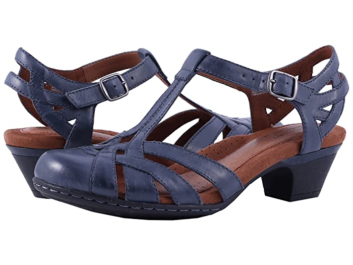 Vintage Sandals | Wedges, Espadrilles – 30s, 40s, 50s, 60s, 70s Cobb Hill Cobb Hill Aubrey Navy Womens 1-2 inch heel Shoes $99.95 AT vintagedancer.com