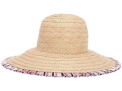 Kate Spade New York Multicolor Fringe Hat (Natural) Dress Hats