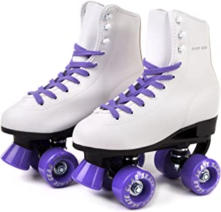 C SEVEN Roller Skates for Classic Skating, Faux Leather