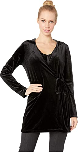 Practical Magic Velvet Hooded Wrap Jacket