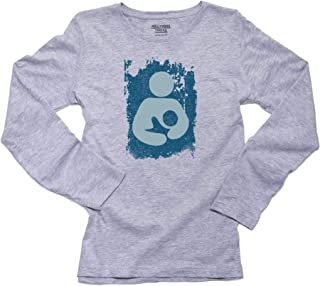 Breastfeeding Symbol - Baby Blue Vintage Flag Women's Long Sleeve T-Shirt