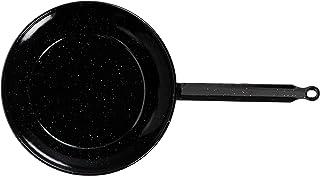 La Valenciana - Paellera (14 cm, Acero Inoxidable, esmaltado, con 1 asa), Color Negro, Negro, 14 cm