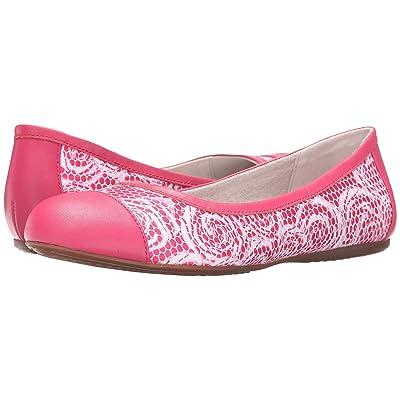 SoftWalk Napa (Pink Rose Fabric/Smooth Leather) Women