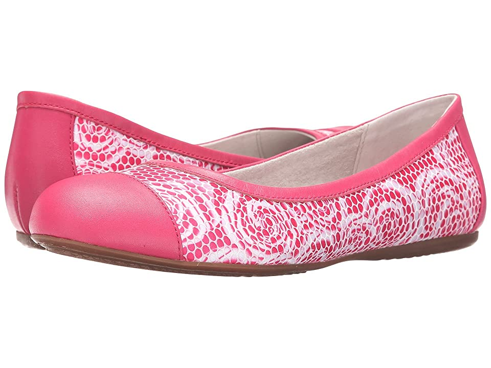 SoftWalk Napa (Pink Rose Fabric/Smooth Leather) Women