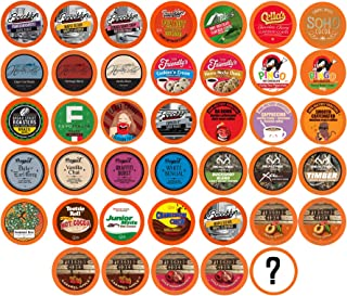 Two Rivers Coffee, Tea, Cocoa, Cider, Cappuccino Variety Sampler Pack Compatible with 2.0 Keurig K-Cup Brewers, Perfect Gi...