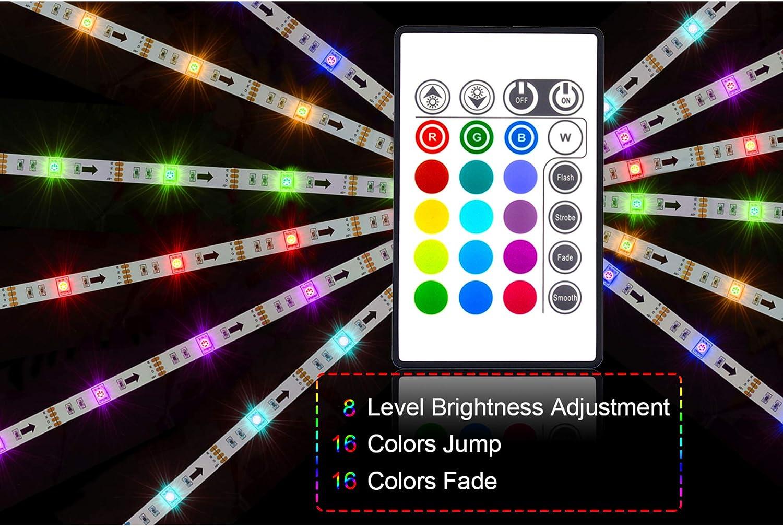 PANGTON VILLA Led Strip Lights 6.56ft for 40-60in TV USB Backlight Kit with Remote-16 Color 5050 Bias HDTV