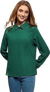 oodji Ultra Women's Basic Blouse in Flowing Fabric