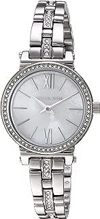 Women's Sofie Quartz Stainless-Steel Strap, Silver, 9.5 Casual Watch (Model: MK3906)