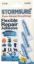 Heldere flexibele reparatielijm van Stormsure – transparant, 3 x 5 gram