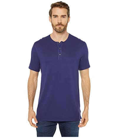 Threads 4 Thought Performance Pique Short Sleeve Henley (Oxford Blue) Men