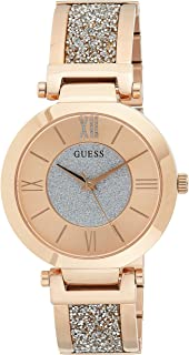 GUESS - W1288L3 - WATCH FOR LADIES ROSE GOLD WITH PLAIN STAINLESS STEEL - ADJUSTBALE G-LINK