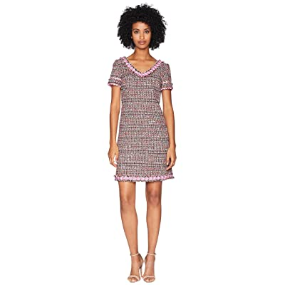 Boutique Moschino Mat Tweed Dress (Fantasy Print Fuchsia) Women