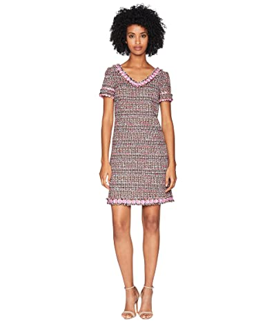 Boutique Moschino Mat Tweed Dress (Fantasy Print Fuchsia) Women
