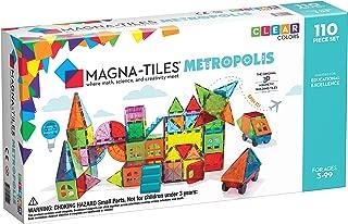 Magna Tiles Metropolis 110Piece Set, The Original, Award-Winning Magnetic Building Tiles for Kids, Creativity & Educational Building Toys for Children, Stem Approved