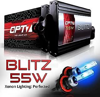OPT7 BLTZ 55W 9007 Bi-Xenon HID Kit - 3X Brighter - 4X Longer Life - All Bulb Sizes and Colors - 2 Yr Warranty [10000K Deep Blue Light]
