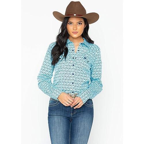 a3d2cdf5a Cinch Women's Geometric Print Snap Western Shirt - Msw9200029