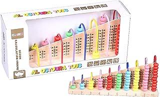 AL OSTOURA Educational Toys Beech Calculation Frame Wooden