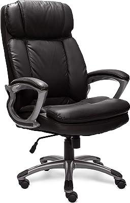 Serta 43675 Faux Leather Big & Tall Executive Chair, Black (Renewed)