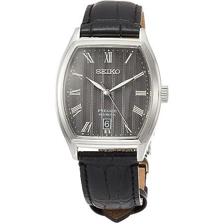 [セイコーウォッチ] 腕時計 プレザージュ メカニカル トノー型 ブラック文字盤 カーブサファイアガラス シースルーバック SARY113 メンズ ブラック