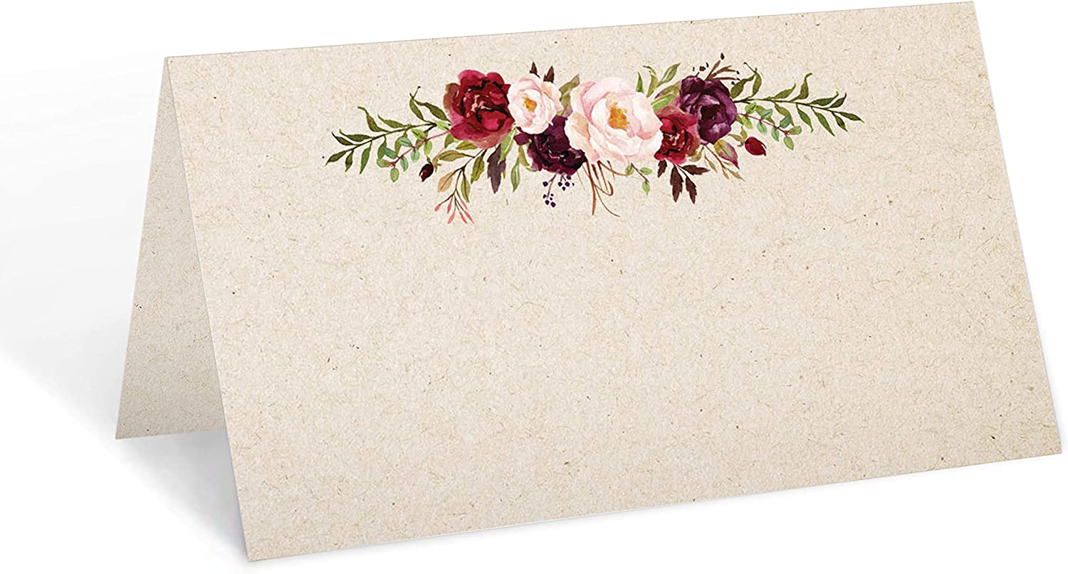 321Done Floral Place Cards 3.5