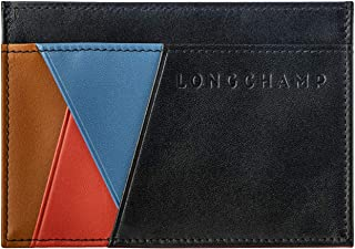 LONGCHAMP Ruban Card Case Black Small Bag Le Foulonne Wallet Homme Men NEW