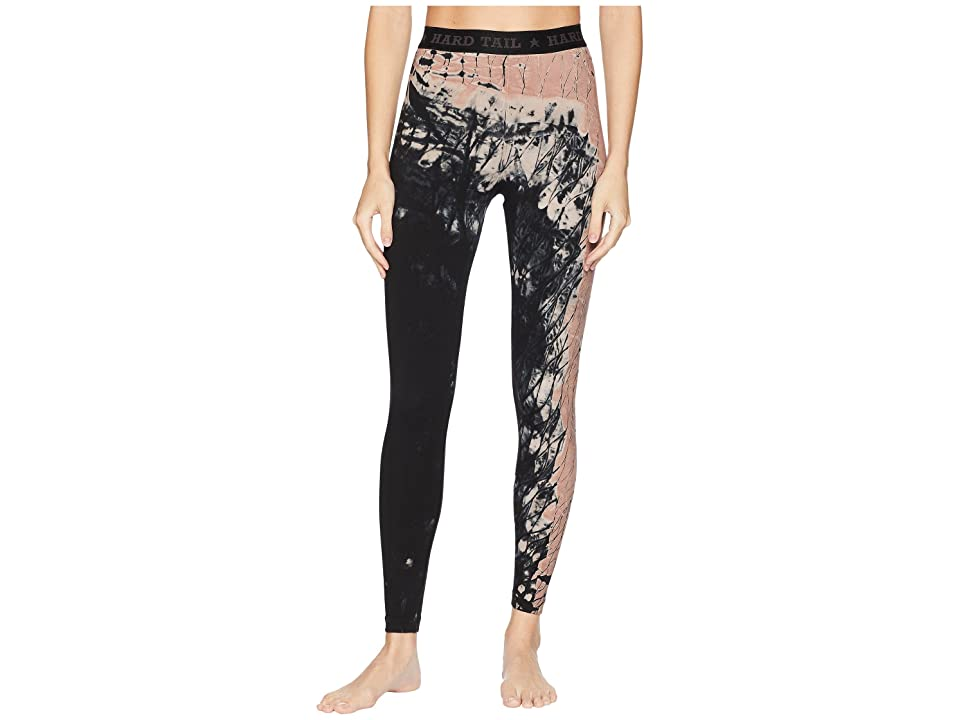 Hard Tail Logo Yoga Leggings (Diagonal Butterfly 1) Women