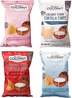 The Real Coconut Chips & Plantain Flour Cookies Variety Pack (Tortilla Chip Set)