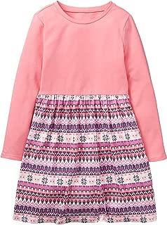 Girls' Little Long Sleeve Fair Isle Dress