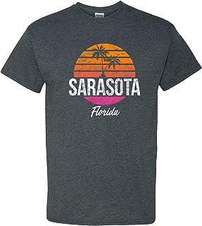 Sarasota Resort Retro Sunset - Florida Summer Vacation T Shirt - 3X-Large - Dark Heather