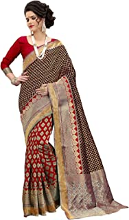 Black And Red Banarasi Silk Weaving Work Traditional Saree