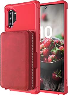 Galaxy Note 10 Case Samsung,Shockproof Zipper Kickstand Protective Credit Card Case Holder High Capacity Durable Cover She...