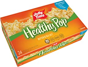 JOLLY TIME Healthy Pop Butter 94% Fat Free Microwave Popcorn, Bulk 24-Count Box