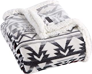 Eddie Bauer Home Collection | Throw Blanket-Reversible Sherpa Fleece, Ultra Plush & Luxuriously Warm, Machine Washable, Cl...