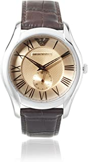 Emporio Armani For Men Light Brown Dial Leather Band Watch AR1704