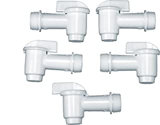 5 Pack of 1/2 turn 3/4 in. NPT Plastic Spigots