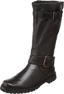 Women's Buckled Up Moto Boot Boot, black, 6 M US