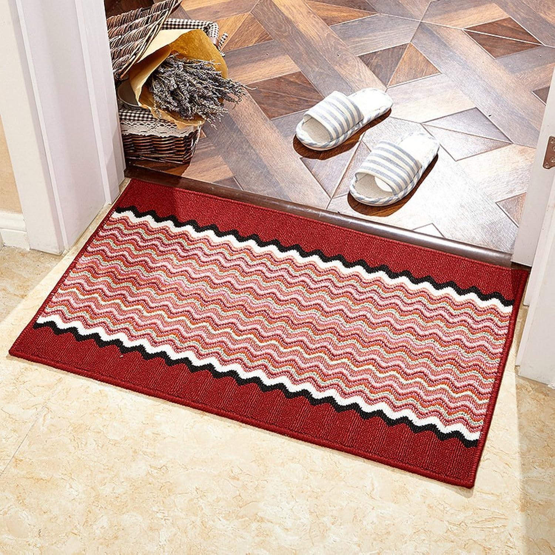 Entrance Door mats,Floor mat Non-Slip Rug Area Rug Indoor Doormat-red 78  118cm(31x46inch)