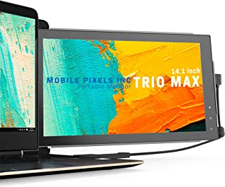 Mobile Pixels Trio Max Portable Monitor, 14'' Full HD IPS Dual Triple monitor for laptops, USB C/USB A powered portable di...