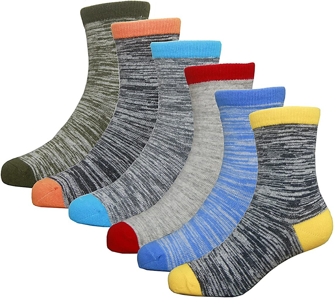 Hzcojulo Little Toddler Kids Boys Girls Fashion Cotton Socks -6 Pairs