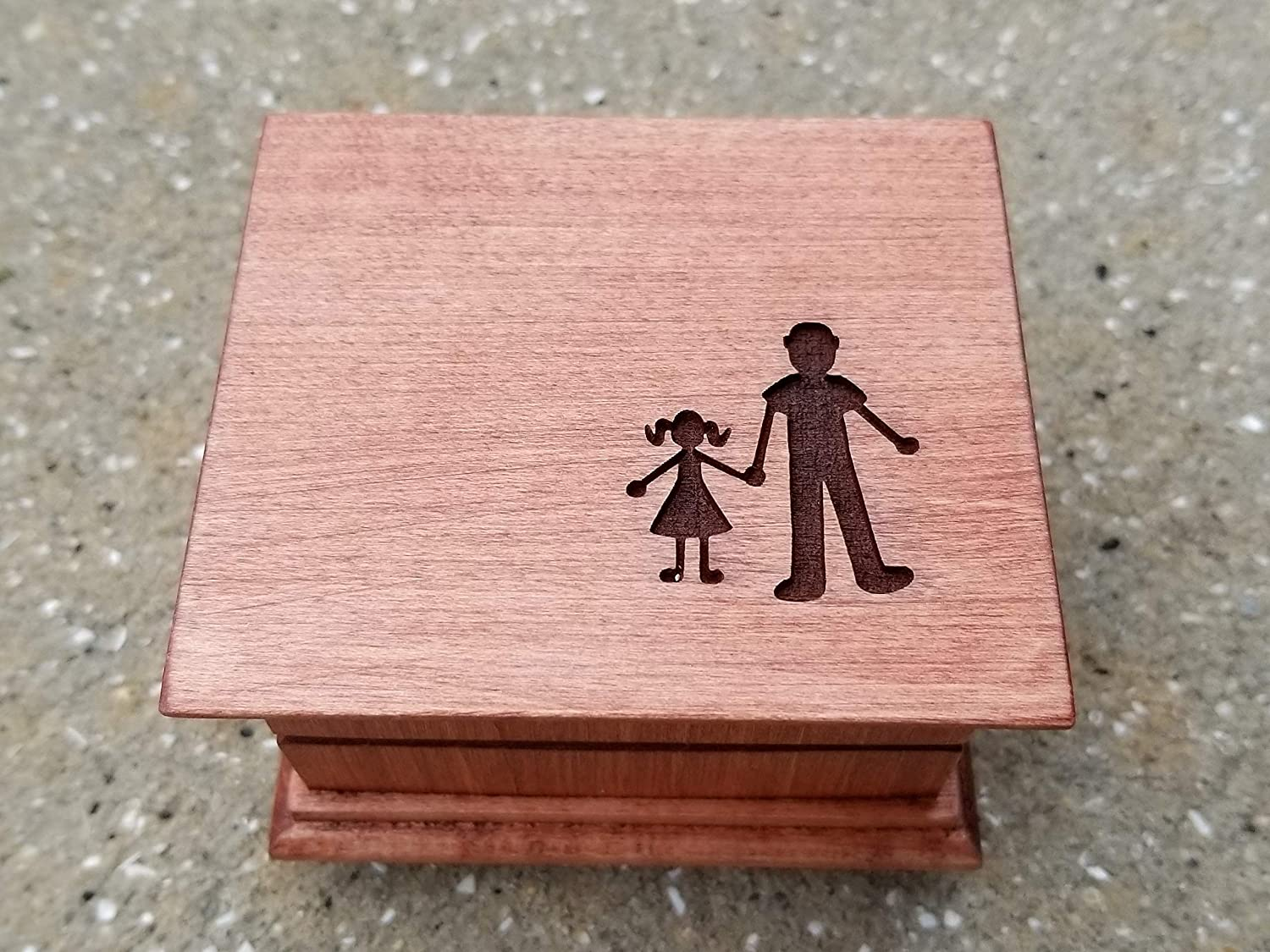 Engraved music box with a son and or father Save money Tulsa Mall daughter
